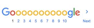 jumlah page Google