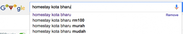 google auto complete kota bharu